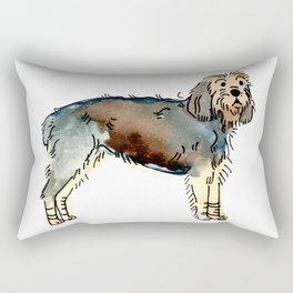 Poppy - Dog Watercolour Rectangular Pillow
