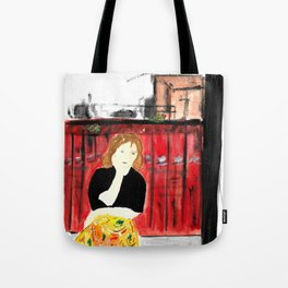 Portrait of my Mother in Rome French Fine Art Painting Tote Bag