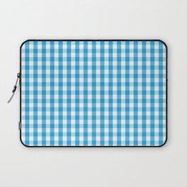 Oktoberfest Bavarian Blue and White Large Gingham Check Laptop Sleeve