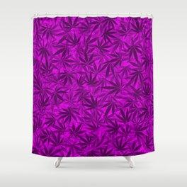 Marijuana leaves (purple) Shower Curtain
