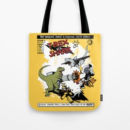 T-Rex VS Shark  Tote Bag
