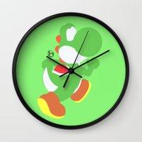 yoshi Wall Clocks featuring Yoshi(Smash) by ejgomez