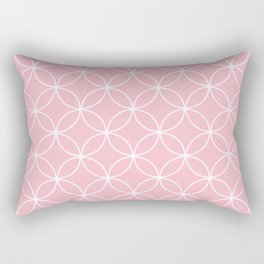 Crossing Circles - Pink Lemonade Rectangular Pillow