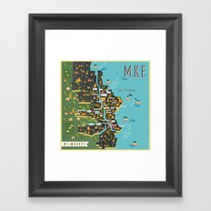 Mapping  Milwaukee Framed Art Print