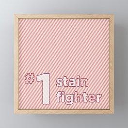 #1 Stain Fighter Framed Mini Art Print