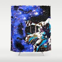 astronaut Shower Curtains featuring Astronaut  by Saundra Myles