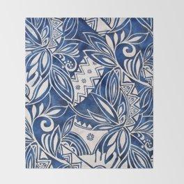 Hawaiian tribal pattern II Throw Blanket