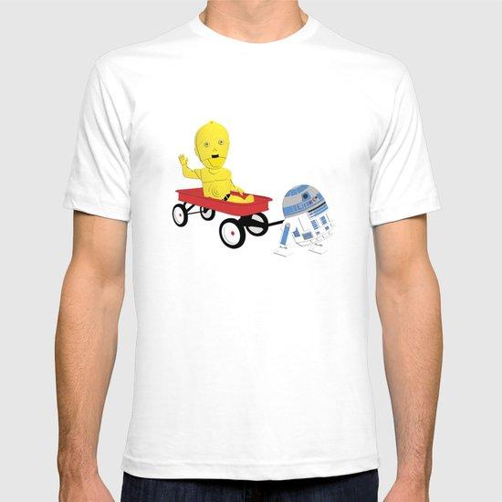 SW Kids - C3PO & R2D2 Red Wagon T-shirt