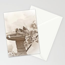Bath Time in sepia Stationery Cards