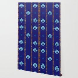 Chic Classique Art Deco Mediterranean blue Wallpaper