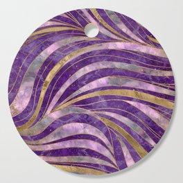 Amethyst and Fluorite Wavy Pattern Cutting Board