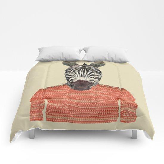 charlie zebra Comforters