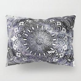 Galaxy Space Mandala (Black and White & Gray Scale) Mystical Adventurous Pillow Sham