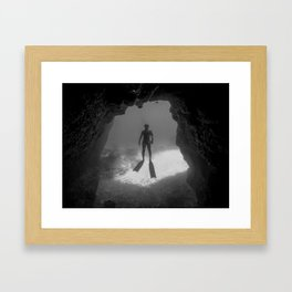 Caveman Framed Art Print