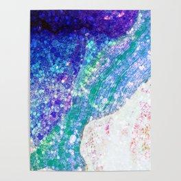 Sleeping Mermaid - Ocean Colors Poster