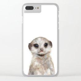 Little Meerkat Clear iPhone Case