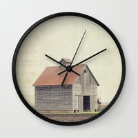 american beauty Wall Clocks featuring American Beauty Vol 14 by Farmhouse Chic