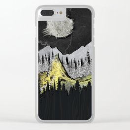 Silicone Mountains Clear iPhone Case