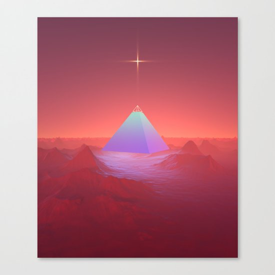 Blue Pyramid Canvas Print