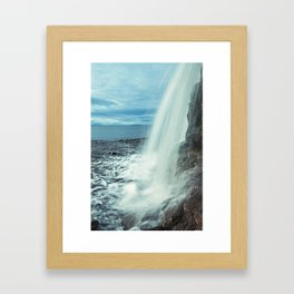 Fundy Waterfall Framed Art Print