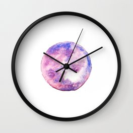 Far Out Space - White Wall Clock