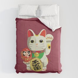 Maneki Neko - Lucky Cat Comforters