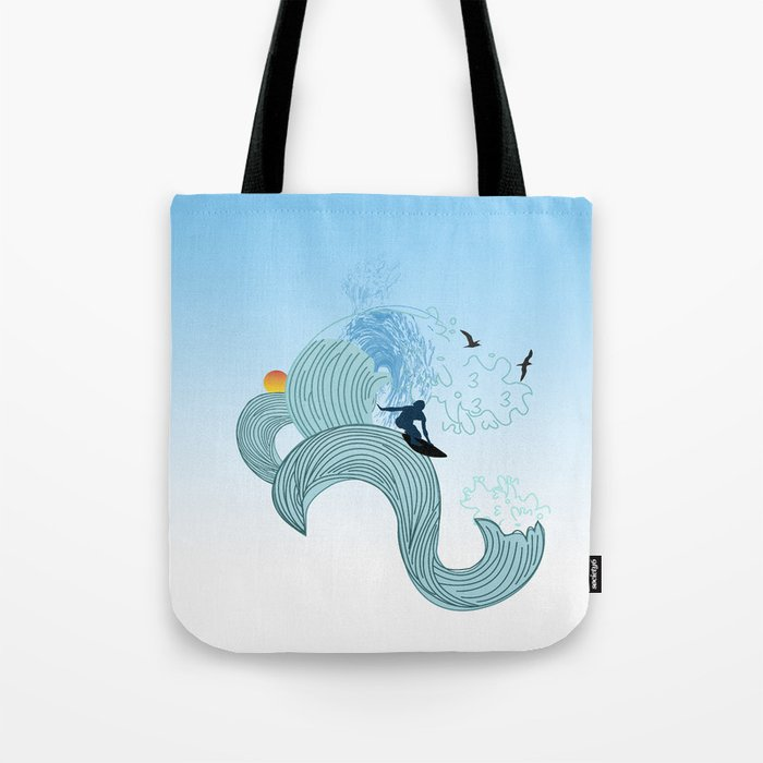 surfing 4 Tote Bag