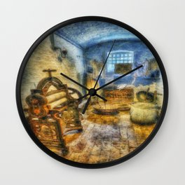 Olde Victorian Washroom Wall Clock