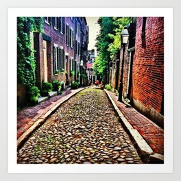 Beacon Hill, Boston Art Print