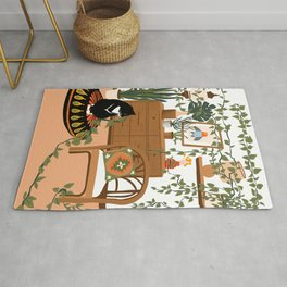 plant lady is the new cat lady Rug
