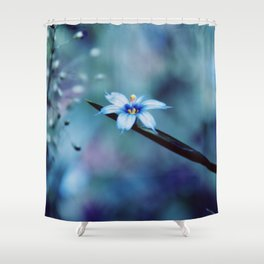Blue on blue Flower Photography, Symphony in Blue Shower Curtain