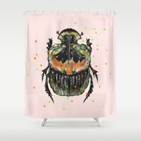 insect Shower Curtains featuring INSECT X by dogooder
