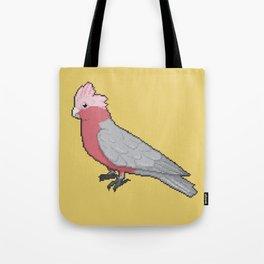 Pixel / 8-bit Parrot: Galah Cockatoo Tote Bag