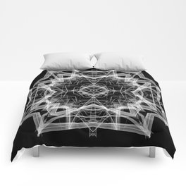 Mandala 3354b in Black and White Comforters