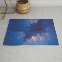 Abstract blue fractal composition background Rug