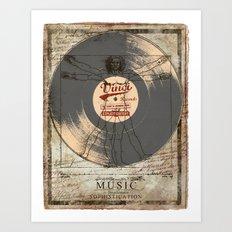 VINCI RECORD Art Print