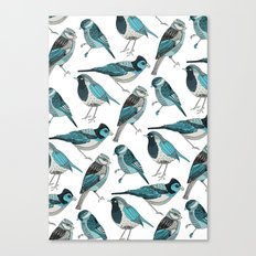 pale green birds Canvas Print