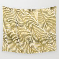 tropical Wall Tapestries featuring Tropical Gold by Cat Coquillette