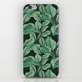 Exotic Tropical Banana Palm Leaf Print iPhone Skin