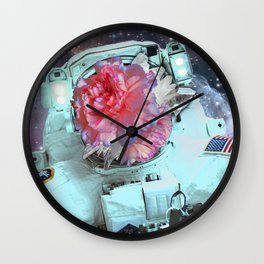 Floral Explorer Wall Clock