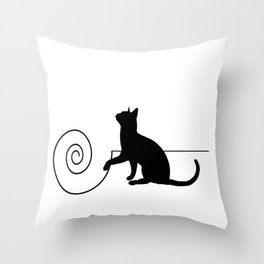 les chats #3 Throw Pillow