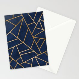 Art Deco Blue Stationery Cards