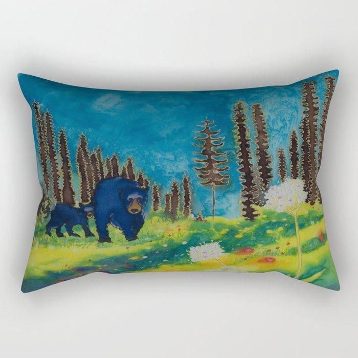 Bears in the Alpine Rectangular Pillow