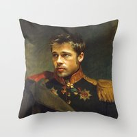 replaceface Throw Pillows featuring Brad Pitt - replaceface by replaceface