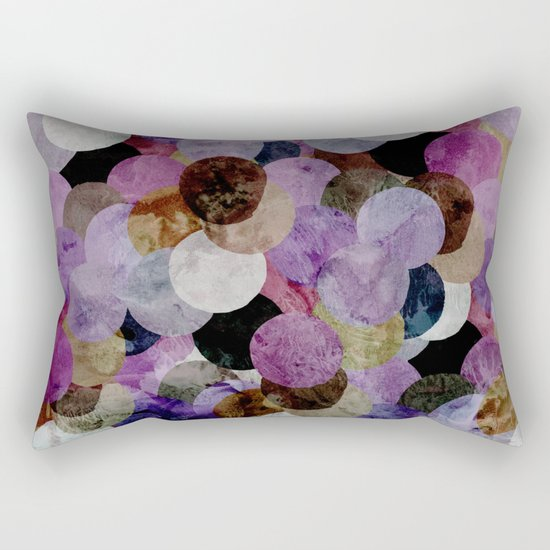 Circles III Rectangular Pillow