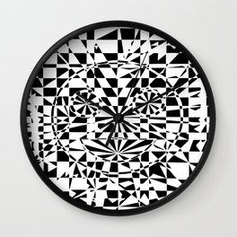 Smiley Damier 2 Wall Clock