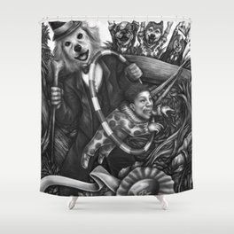 Circus Woof Shower Curtain