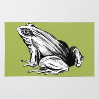 frog Area & Throw Rugs featuring Frog by Aubree Eisenwinter
