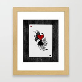 Love Hate Framed Art Print