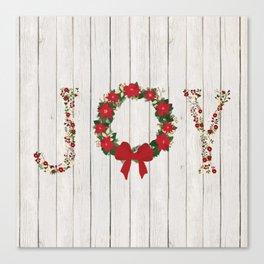 Joy Wreath #2 Canvas Print